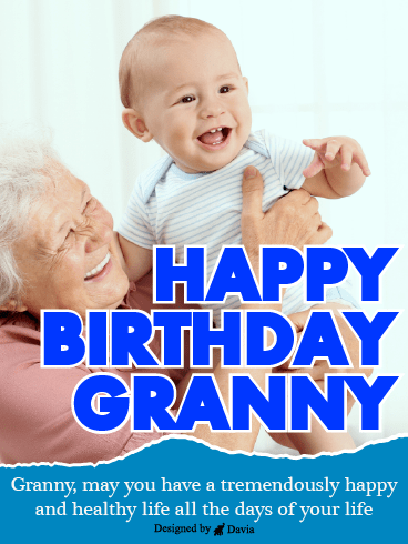 Purity & Innocence – Happy Birthday Grandmother Cards