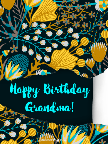 Flower For Grandma – Happy Birthday Grandmother Cards