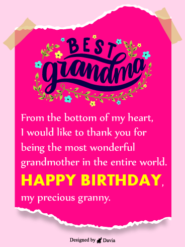 Best Granny! – Happy Birthday Grandmother Cards