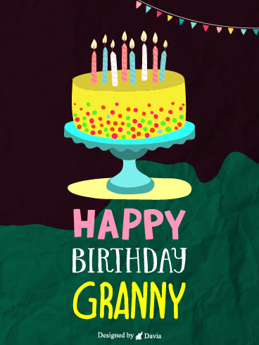 Cake For Granny – Happy Birthday Grandmother Cards