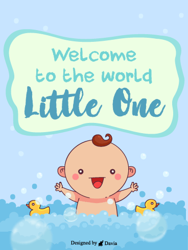 Little Baby & Ducks – Baby Cards