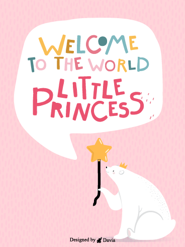Beautiful Princess – Baby Cards