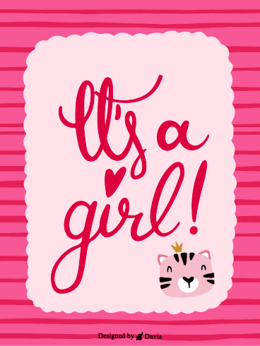 A Girl? – Baby Cards