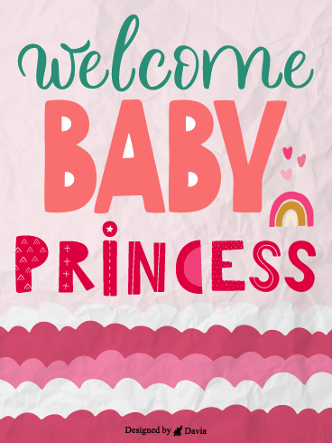 Rainbow & Princess – Baby Cards