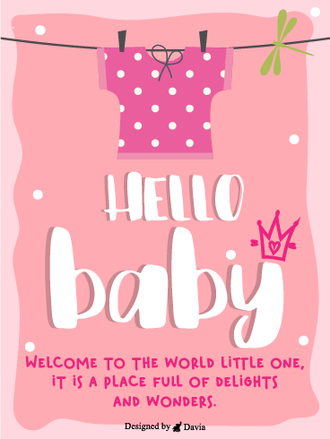 Baby Pink Shirt – Baby Cards