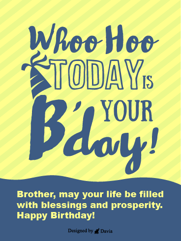 Blessings & Prosperity – Happy Birthday Brother Cards