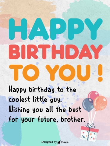 All The Best Bro! – Happy Birthday Brother Cards