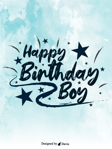 Star Birthday – Happy Birthday Brother Cards