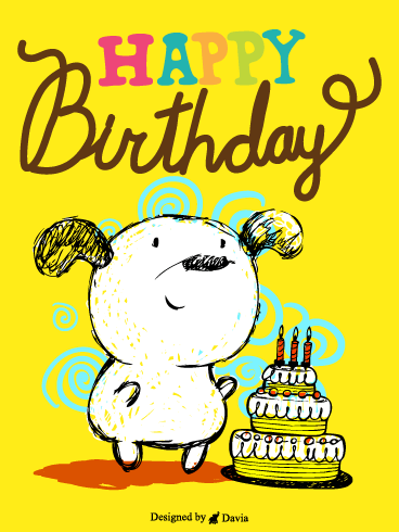 Dog & Cake – Newly Added Birthday Cards