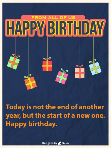 New Start – Newly Added Birthday Cards