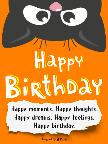 Cat Peek – Newly Added Birthday Cards
