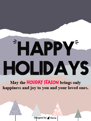 Happy & Joyful Holiday – Season's Greetings Cards
