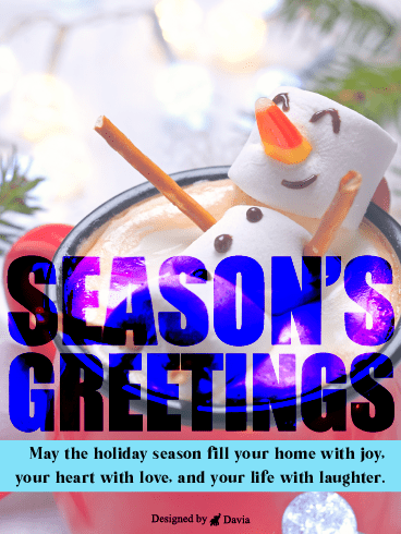 Marshmallow Snowman – Season's Greetings Cards