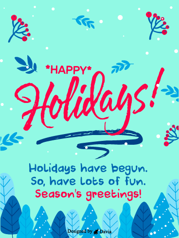 Fun Season & Holiday – Season's Greetings Cards