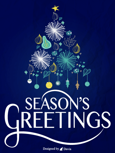 Dazzling Tree – Season's Greetings Cards