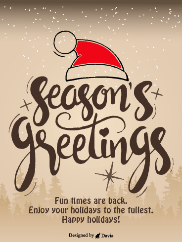 Red Hat – Season's Greetings Cards