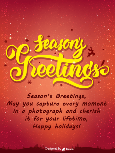 Cherish The Moment! – Season's Greetings Cards