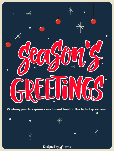 Holiday Season – Season's Greetings Cards