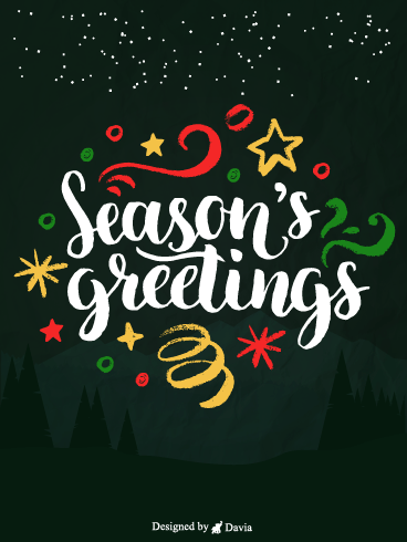 Festive Season – Season's Greetings Cards