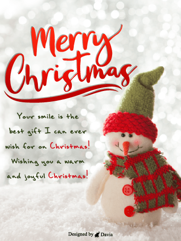 Smiling Snowman – Christmas Cards