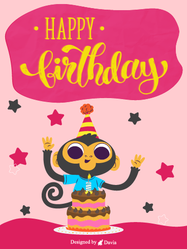 Monkey In Party! – Newly Added Birthday Cards