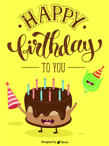 Cake Says Happy Birthday! – Newly Added Birthday Cards