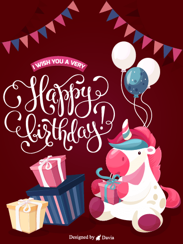 Unicorn Birthday – Newly Added Birthday Cards