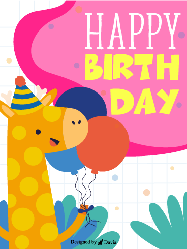 Giraffe Birthday – Newly Added Birthday Cards