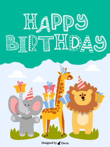 Animal Birthday Party – Newly Added Birthday Cards