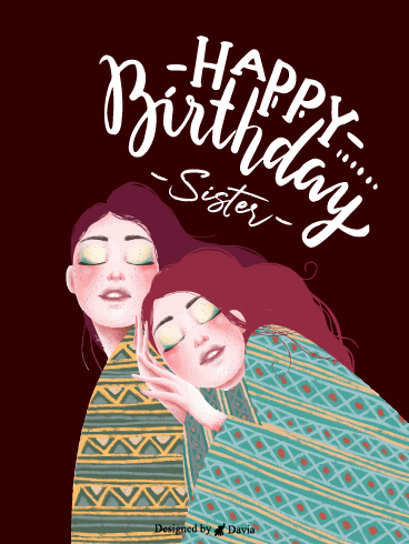 Aesthetic Sister – Happy Birthday Sister Cards