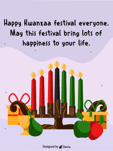 Fruits And Candles – Kwanzaa Cards