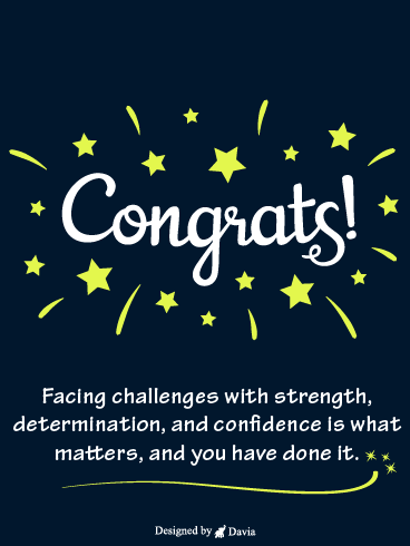 Determination & Confidence – Congratulations Cards