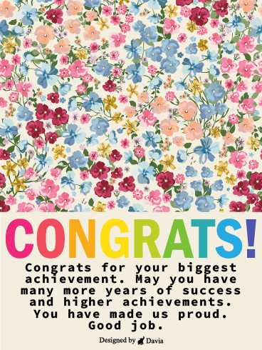 Biggest Congrats – Congratulations Cards