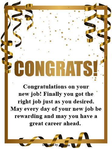 Gold Congrats – Congratulations Cards