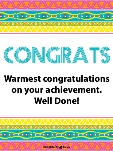 Warmest Congrats – Congratulations Cards