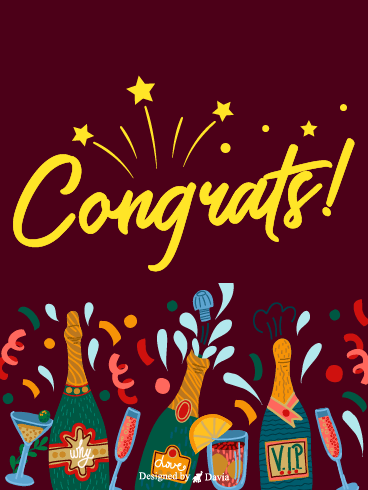 Cheers To You! – Congratulations Cards