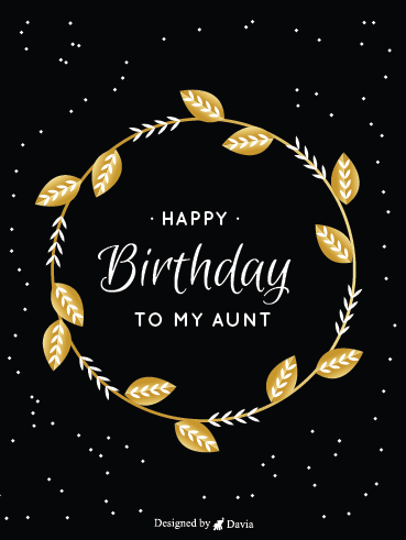 Beautiful Birthday – Happy Birthday Aunt Cards