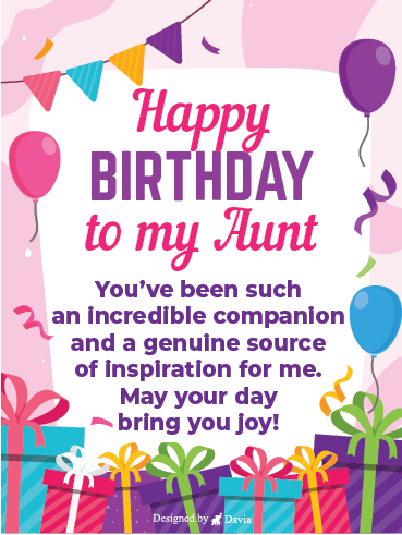 Presents For Aunt – Happy Birthday Aunt Cards