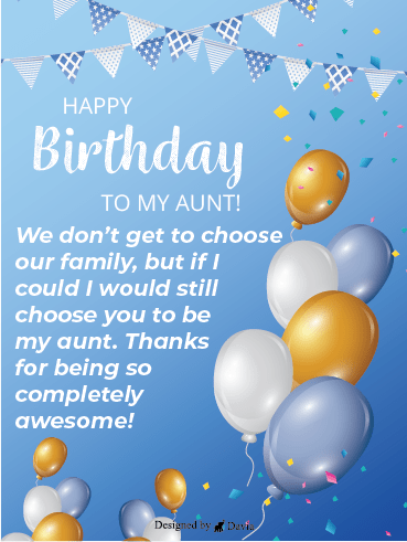 Awesome Aunt – Happy Birthday Aunt Cards