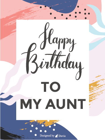 Sweet Birthday – Happy Birthday Aunt Cards