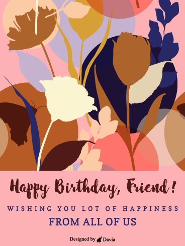 From Us – Happy Birthday Friend Cards
