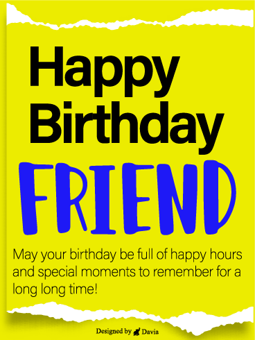 Best Wishes For Friend – Happy Birthday Friend Cards