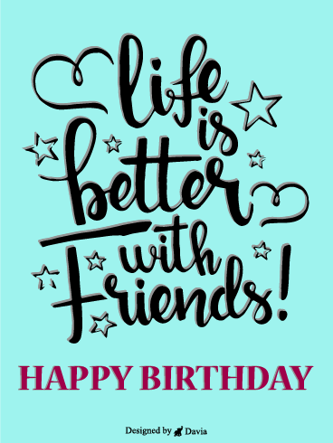 Stars & Love – Happy Birthday Friend Cards