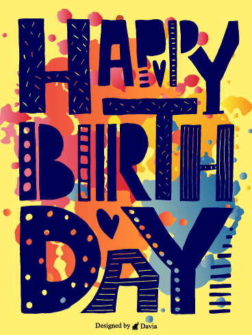 Abstract Birthday – Happy Birthday Friend Cards