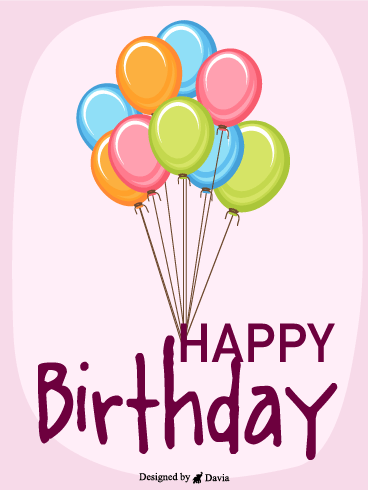 Colorful Balloons For You – Newly Added Birthday Cards