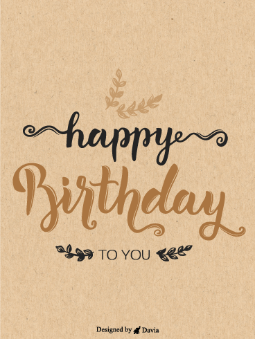 Warm Birthday – Newly Added Birthday Cards