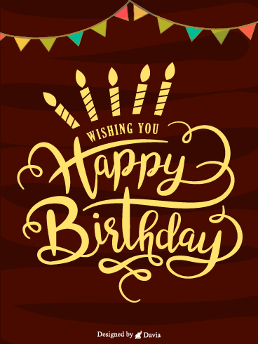 Fancy Lettering Cake – Newly Added Birthday Cards