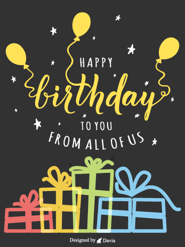 Yellow Balloons – Newly Added Birthday Cards