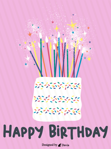 Fireworks & Candles – Newly Added Birthday Cards