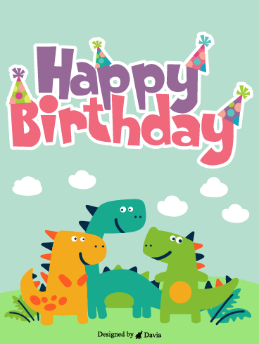 Dino Ready To Party! – Newly Added Birthday Cards